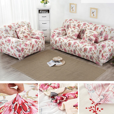 Qoo10 Printed Universal Sofa Cover Flexible Stretch Big Elasticity