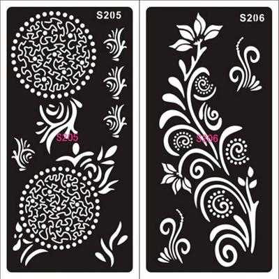 Henna Templates | Pro 1 Sheet Hand Painted Hollow Mold Inkjet Tattoo Henna Templates Stickers For Diy Tools Profession