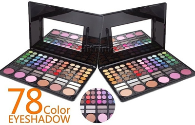 Pro Penuh Warna Makeup 78 Eyeshadow Palette Mode Eye Shadow Make up Bayangan Kosmetik / Color