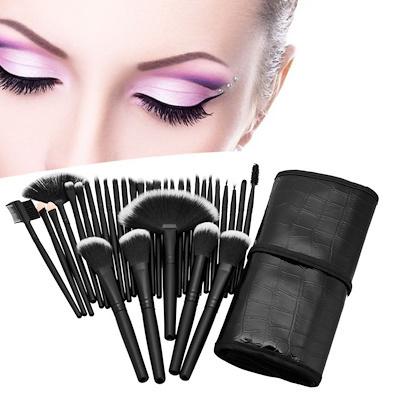 55d644a71d63 Professional Makeup Brushes Set 32pcs Cosmetic Kit Eyebrow Face Cheek Blush