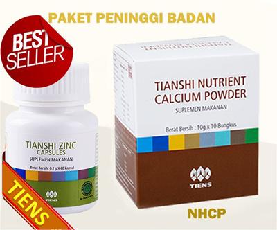 *Promo* PAKET PENINGGI BADAN TIENS 10 hari (Kalsium NHCP dan Zinc) /