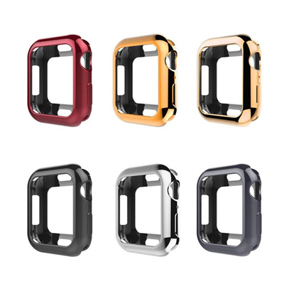 half off 3e05c 41d1d Protective Cases Cover for Apple Watch 4 band 44mm 40mm Iwatch series 4  case Replacement TPU soft