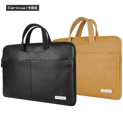 671a250bd475 PU Leather Laptop Bag 15.6 14 13 inch Notebook Sleeve Bag for Macbook Pro  Air 13 15 Case Single Shou