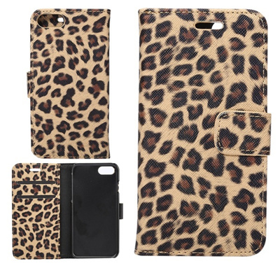 first rate efdcf 7c7da PU Leather Leopard Print Folio Pouch Wallet Case Slot Stand Flip Cover Case  for iPhone 7 7plus 6/6s