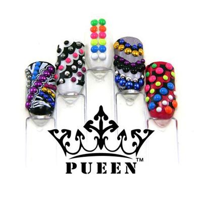 Qoo10 Pueen 3d Nail Art Wheel 3mm Round Metal Studs Wheel 6 Neon