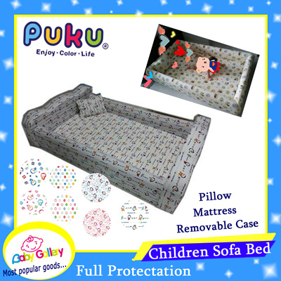 ac2f6e6f5b0ba PUKU Baby Children Sofa Bed   Full Protection   With Pillow mattress   Removable Cover