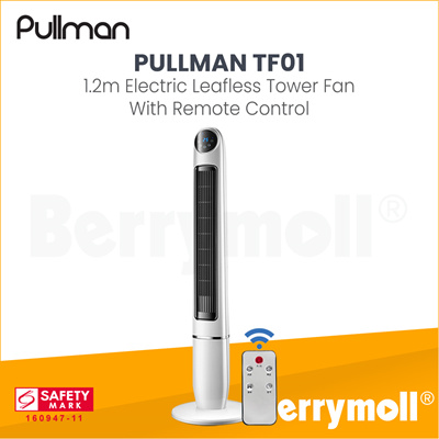 PULLMAN [▼-49%]PULLMAN TF01 - 1 2M ELECTRIC LEAFLESS TOWER FAN WITH REMOTE  CONTROL /