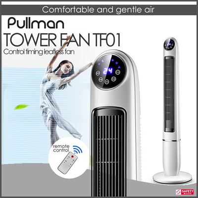 PULLMANPULLMAN TF01 - 1 2M ELECTRIC LEAFLESS TOWER FAN WITH REMOTE CONTROL