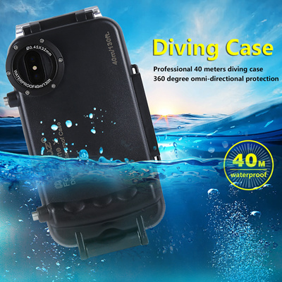 more photos c4f0a 2e6ba PuluzIphone X Diving Case waterproof Underwater Camera Housing Photo Taking  Waterproof Diving Case 40m