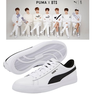 ed62991b3f0 BTS Official Goods - PUMA X BTS COURT STAR Shoes + Photo Card BANGTAN BOYS  Sneakers