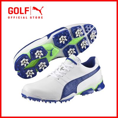 PUMA GOLF Men Titantour Ignite Footwear - White-Surf The Web-Green Gecko ☆ 1921d2209