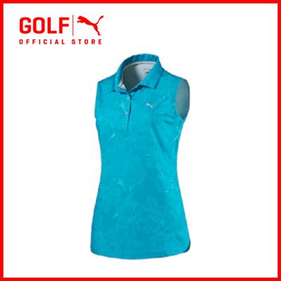 Puma Golf Women Bloom Sleeveless Polo - Hawaiian Ocean