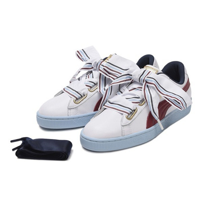 the latest e806a 335ac PUMAPUMA 레이디스 【PUMA】 푸마 W BASKET HEART NEW SCHOOL 농구 하트 뉴스 쿨 367734 01WH/WH