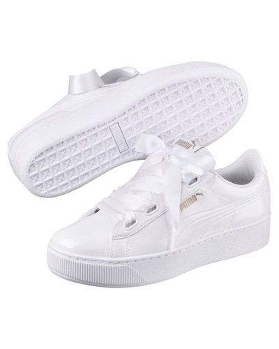 4a9aee0ec0fa Qoo10 - Puma Sneakers Shoes Sport Vikky Platform Ribbon P Rihanna Woman  White...   Shoes