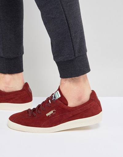 free shipping 6f477 156d4 Puma Te-ku Sneakers Suede Sneakers In Red 36499003