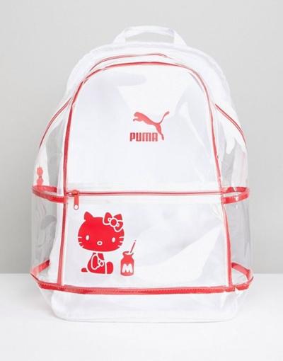 Qoo10 - Puma X Hello Kitty Translucent Backpack   Bag   Wallet 072a8b48dbb66