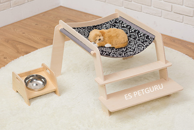 Puppy Cushion Cat Bed Pet Kennel Dog Bed With Staircase Cat Tree Hammock