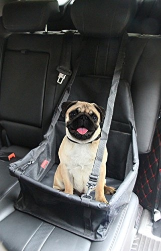 PUSTOR Pustor Portable Pet Dog Car Booster Seat For Small Medium Dogs Cats