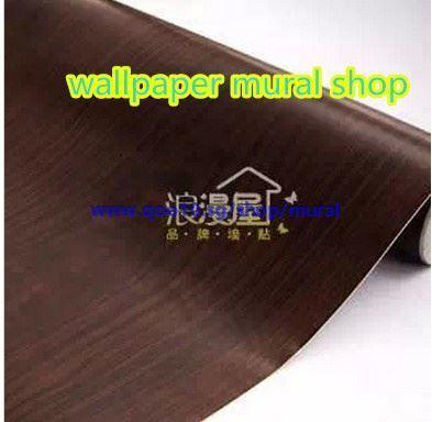 Qoo10 Pvc Self Adhesive Wallpaper Dark Wood Grain 2607 Gummed