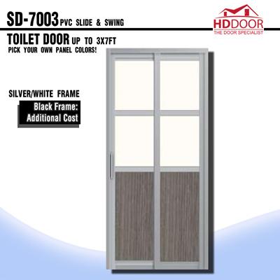 Qoo10 - PVC Slide Swing Door : Furniture & Deco
