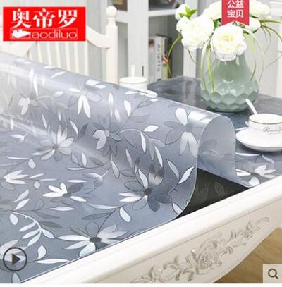 Pvc transparent table mat soft glass plastic tablecloth waterproof anti  burn oil disposable coffee t