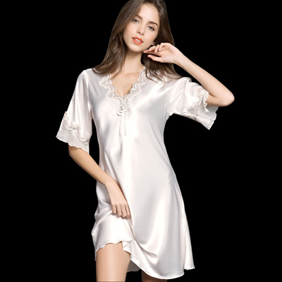 Qoo10 - Pyjamas women s nightdress Korean women strap silk ice silk lace  sexy ...   Underwear   Sock. c6ef3a707