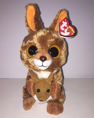 Pyoopeo Original 6 15cm Ty Beanie Boos Kipper the Brown Kangaroo Plush Soft  Stuffed Animal Collecti 2434919078ba