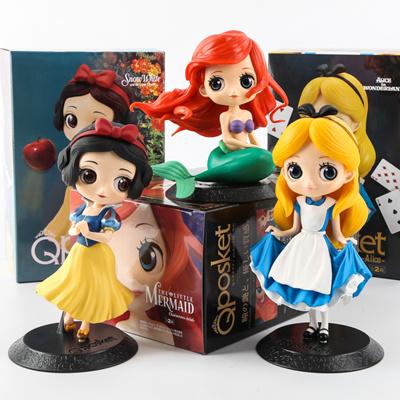 United With Box Disney Princess Figures Rapunzel Belle Cinderella Alice Snow White Ariel Frozen Action Figures Pvc Model Collection Discounts Sale Toys & Hobbies