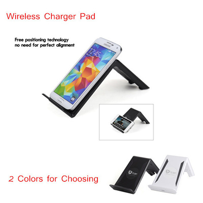 Qi Wireless Charger Transmitter Three Coils Design with Holder Stand for  iPhone Samsung iPad mini Smartphone Tablet PC