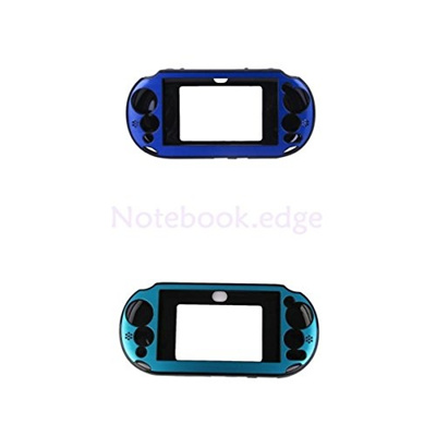 QJ 2pc Aluminum Protective Skin Case Cover for Sony PlayStation Vita 2000  PCH 2000