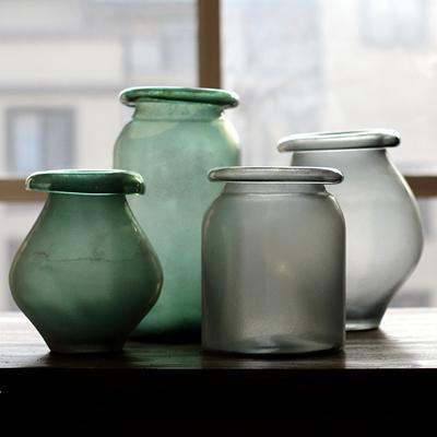 Qoo10 Handful Of Culvert Large Art Glass Hand Blown Glass Vase