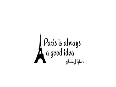 Qoo10 Quote Designs Paris Always A Good Idea Audrey Hepburn Decals