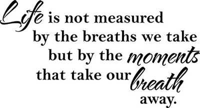 Qoo10 Quote Designs Wall Decal Quote Life Is Not Measure By The