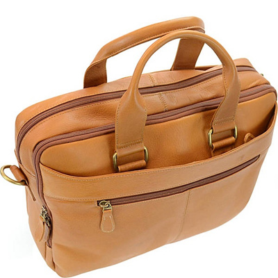 aae56ec49 Qoo10 - R R Collections Genuine Leather Briefcase with Laptop Sleeve :  Men's Bags & Shoes