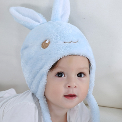 8165ecc603a Qoo10 - Rabbit Bear Ears Cute Baby Hat Soft Cotton Newborn Baby Beanie  Double ...   Baby   Maternity