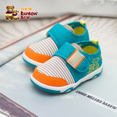 d277029f1ef9 Qoo10 - Rainbow baby bear toddler shoes soft bottom shoes for boys the age  of ...   Kids Fashion
