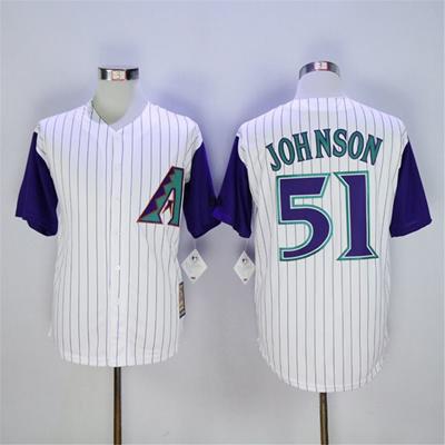 big sale f8466 c823e Randy Johnson Jersey, Cheap Arizona Diamondbacks Throwback 51# Baseball  Jersey, Stitched Black Red W