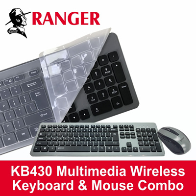 db696585aa7 RANGER Wireless Keyboard With 6-Key Mouse And Protective Silicon Cover  RG2ACKB430