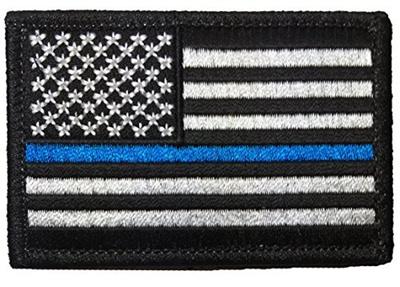 Ranger Return Tactical USA Flag Police Law Enforcement Thin Blue Line Patch  - Black White 2x3 980ef15e79c9