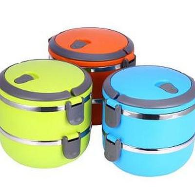 Rantang 2 Susun Stainless Tahan Panas / Lunch Box / Kotak Makan / Kotak Bekal