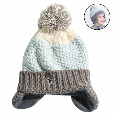 a632a20db RARITY-US Kids Girl Boy Winter Hat Toddler Pom Pom Knit Hats Baby Lined  Plush Earflap Winter Warm Ca