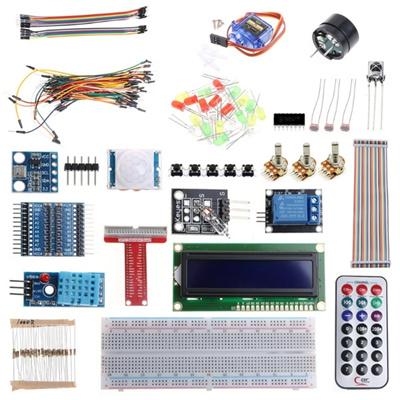 Raspberry Pi 3 Starter Kit Ultimate Learning Suite 1602 LCD SG90 Servo LED  Relay Resistor AIR