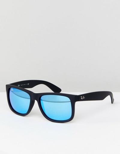 09a9e0ca3da Qoo10 - Ray-Ban 0 RB 4165 Justin Wayfarer Sunglasses With Mirror Lens 55 mm    Fashion Accessories
