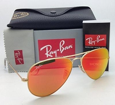 0d2a06e1bb58 Qoo10 - Ray Ban Aviator Luxottica Red Orange Mirror Gold Frame Rb3025  112 69 5...   Fashion Accessor.