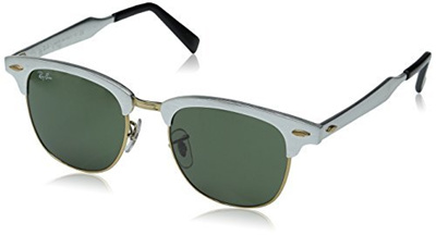 4e7a5d76ab RAY BAN CLUBMASTER ALUMINUM RB 3507 137 40 51MM BRUSHED SILVER  GREY MIRROR  NEW