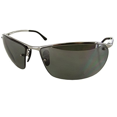 c793b0b08c Ray-Ban Mens Chromance Collection Sunglasses (RB3544) Silver Blue Metal -  Polarized