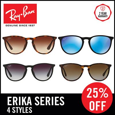 193489c2c738c9 Qoo10 -  25% off  Ray-Ban Sunglasses Erika RB4171F - Size 54 - 4 ...