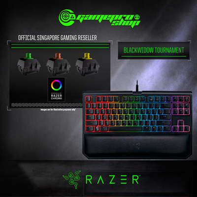 cf2156558f1 Razer Blackwidow Tournament Edition Chroma V2 (Green / Orange / Yellow) -  Mechanical Gaming
