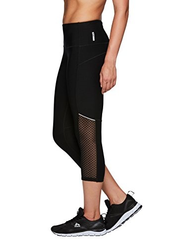 cb76af83130b2 Qoo10 - RBX Active Womens Capri Legging with mesh Inserts and X Straps :  Sports Equipment