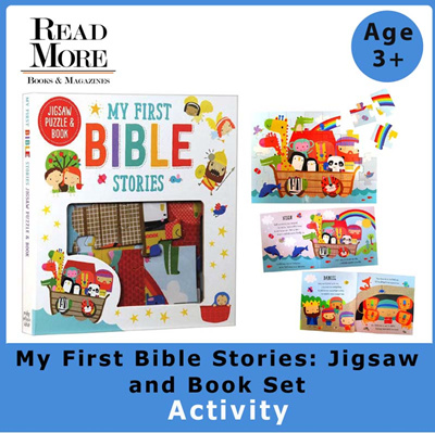 [Read More] My First Bible Stories / Jigsaw / Book Set / Educational / Kids  / Age 3+ / Gift Ideas